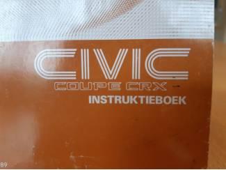 Honda Civic Coupé CRX  instruktieboek 1989