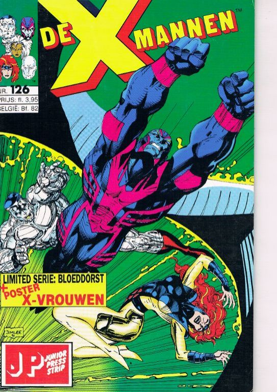 De X-mannen nr. 126 met poster