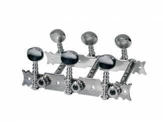 Mechanieken voor klassieke gitaar, metalen knoppen