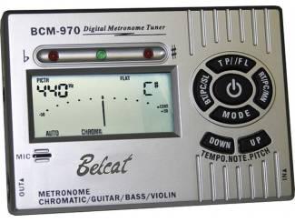 Belcat BCM-970 metronoom met tuner, in zilver of zwart