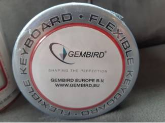 Computer Accessoires Gembird KB-109F-W Flexibel toetsenbord