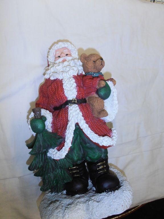 Beertje met kerstman